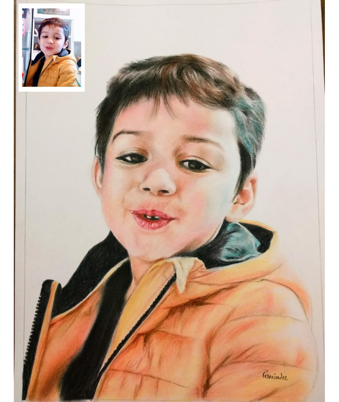 Baby Color-Pencil Sketch as birthday gift for him