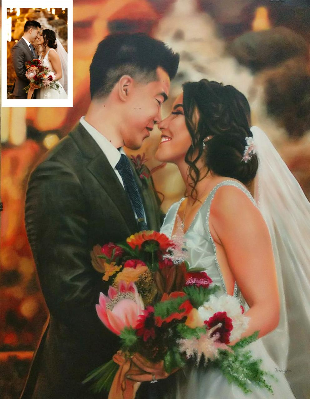 Handmade Wedding Portrait