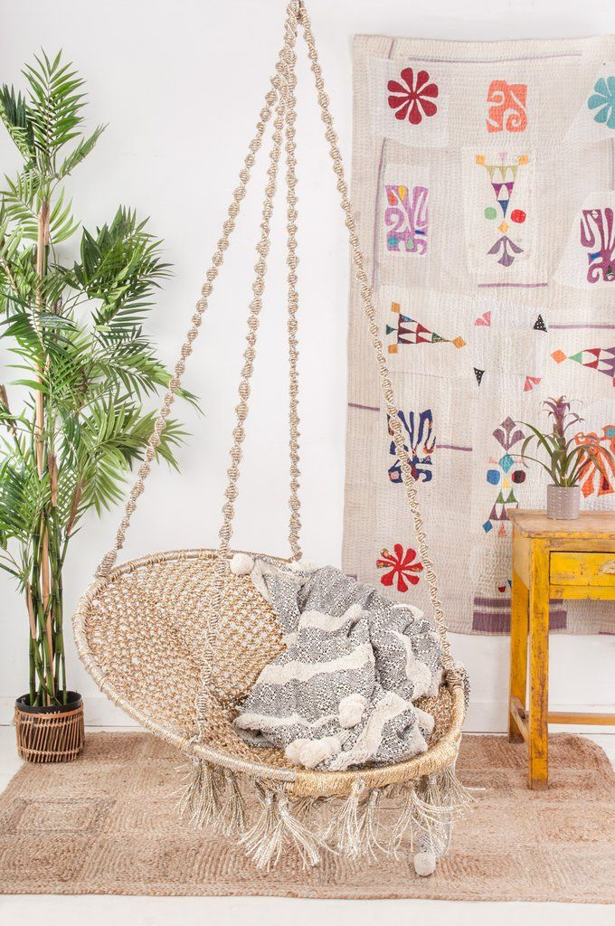 Recycled Plastic Swing Chair as living room decoration