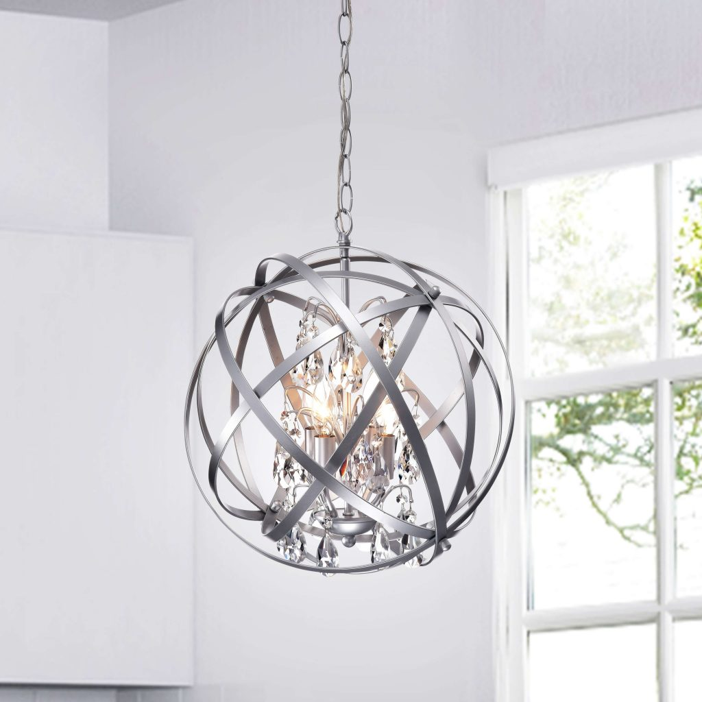 Crystal Chandelier as living room decoration