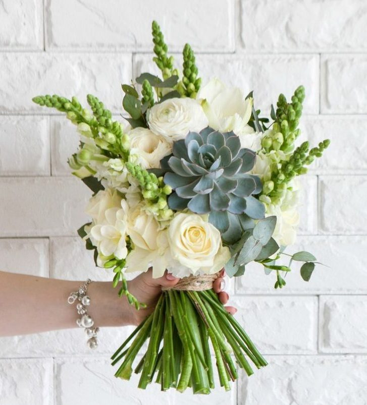 Flowers and Succulent Bouquet