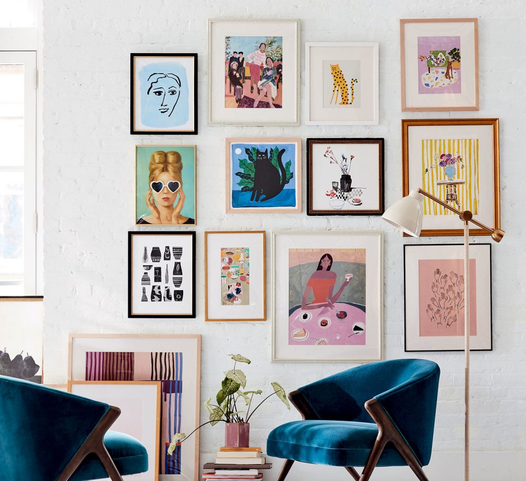 Gallery Wall as living room decoration