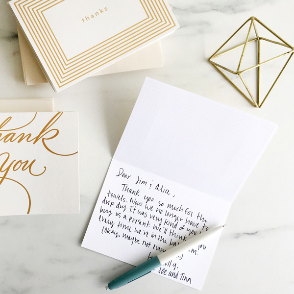 Thank-you Note (Baby Shower Ideas)