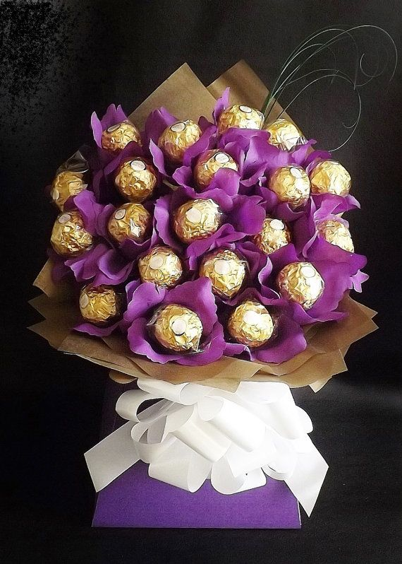 Chocolate Bouquet made of Ferrero Rocher (Women's Day Gifts)