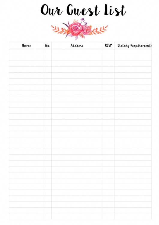 Prepare a Guest List (Baby Shower Ideas)