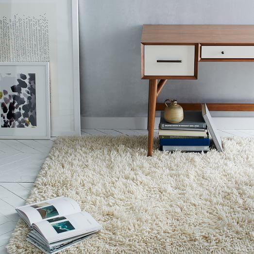 Hand-woven plush rug