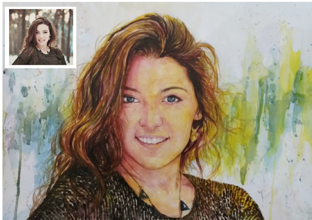 A Watercolor Portrait of His/Her Picture